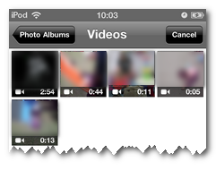 Select video in ReelDirector - How to import other camera videos into iMovie app for iPhone, iPad or iPod Touch